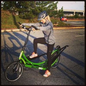 "Using a quote from Jenny Poore- ""Can't stop my flow, I'm on the ElliptiGo!"""