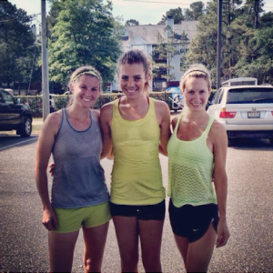 Day before the race trail 10 miler with Kellie & Hollie. (photo stolen from Lolz.)