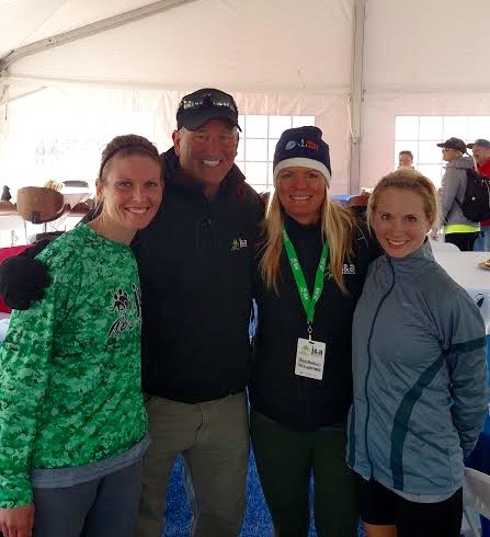 Megan and I with Race Directors Jerry & Amy Frostick. So thankful for Coach Jerrys help!